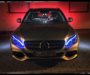 car, mercedes, and lightshow image