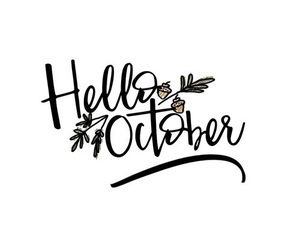 fall and hello october image