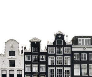 black, white, and city image