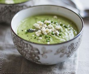 food, soup, and green image