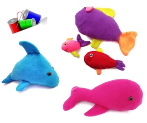 dolphin, sewing, and under the sea image