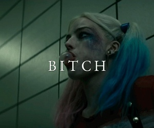 suicide squad, harley quinn, and bitch image