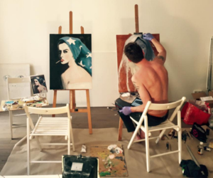 art, chair, and talent image