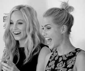 claire holt, candice accola, and the vampire diaries image