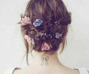 hair, beauty, and bow image
