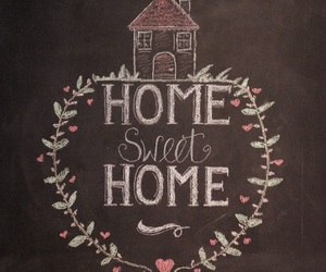 growing up, hand lettering, and home sweet home image