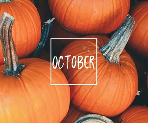 october, fall, and pumpkin image