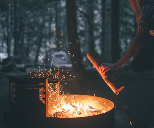 fire, autumn, and forest image
