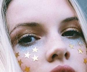 girl, stars, and makeup image