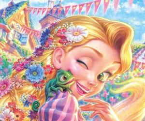 art, rapunzel, and disney image