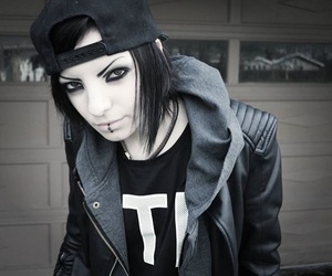emo, goth girl, and goth girls image