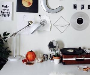 autumn, cactus, and desk image