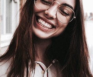 girl, glasses, and smile image