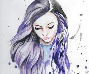 draw, purple, and drawing image
