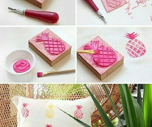 diy, pineapple, and pink image