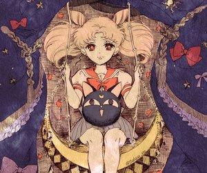 sailor moon and rini image