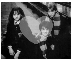 harrypotter, hermione, and ron image