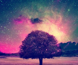 tree and galaxy image