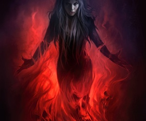fire and dark image