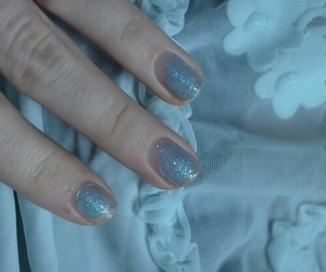 baby blue, fashion, and flowers image