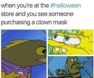 clown, funny, and Halloween image