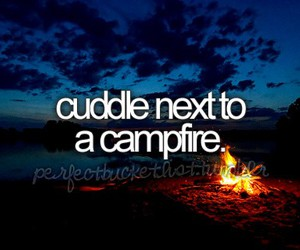 campfire, cuddle, and fire image