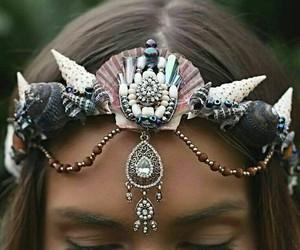 mermaid, crown, and corona image