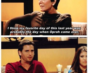 funny, scott disick, and kris jenner image