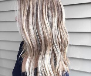 blonde, hair, and baylage image