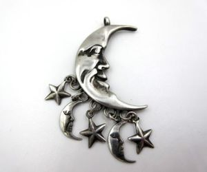 celestial, charm, and crescent image