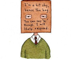 shy, marc johns, and drawing image