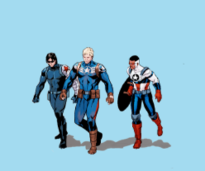 captain america, steve rogers, and winter soldier image