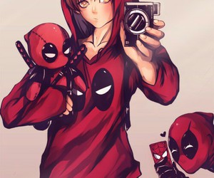 deadpool, peter parker, and wade wilson image