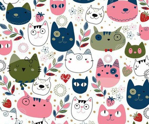 cat, pattern, and cute image