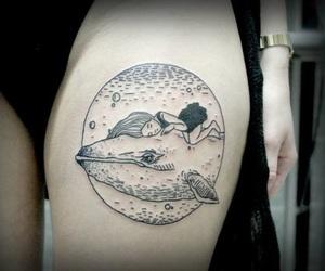girl, tattoo, and tatto image