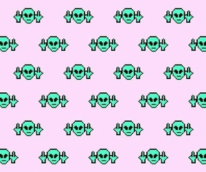 wallpaper, pattern, and alien image