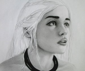 black and white, draw, and pencil image