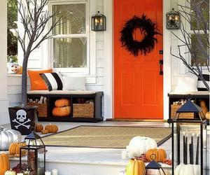 Halloween, decoration, and pumpkin image