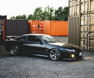 black, cars, and nissan image