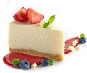 cake, straberry, and food image