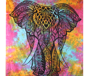 elephant tapestry, wall tapestry, and wall hanging image
