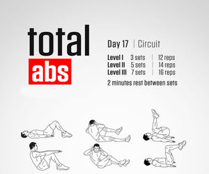 exercise, abs, and workout image