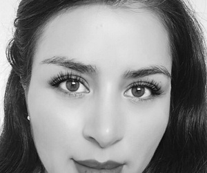 beauty, black and white, and eyes image