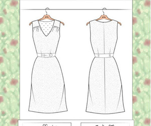 Couture, dress, and freepattern image