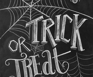 Halloween, trick or treat, and black and white image