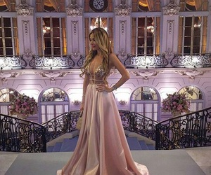 dress, luxury, and pink image