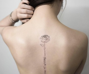 letters, tattoo, and rose image