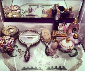 mirror, vintage, and perfume image