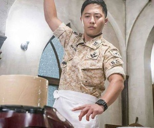 jin goo, descendants of the sun, and kdrama image