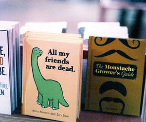 book, dinosaur, and vintage image